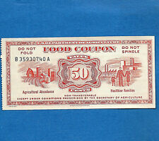 FOOD STAMP COUPON ONE $0.50 CENTS  SERIES 1967 GEM UNC USDA SCRIP