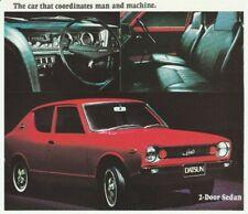Rare Datsun 100A Brochure - Excellent Condition - 1972 Model Year