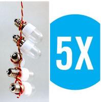 5 x LED Lichttropfen Kronleuchterlampen 0,6W E14 klar weiß Günstig Preiswert Top