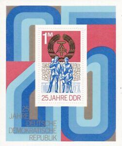 Block DDR Michel 41 postfrisch '25 Jahre DDR'