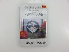 By The Bay Needleart Donna Bayliss SAM THE SNOWMAN Cross Stitch Kit + Fabric NEW