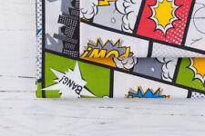 0,5 M, 100% Tessuto Cotone Pop Art Retrò Fumetti Cartoon