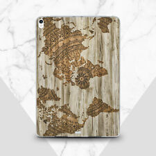 Vintage Map iPad 6 Pro 9.7 2018 Silicone Case Wooden iPad Air 2 3 Pro 10.2 2019