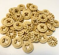Lego Technic Gears Parts Pieces 12 Tooth Bevel Tan x 12pce Set 6589