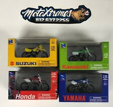 New Ray 1:32 Scale Dirt Bike Toy 4 Pack Honda Kawasaki Suzuki Yamaha