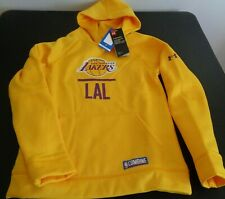 LOS ANGELES LAKERS Combine UNDER ARMOUR Hoodie Youth LARGE Sweatshirt NBA New
