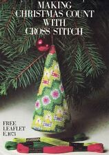 Coats & Clark's Leaflet E1073 Counted Cross Stitch Tree Ornament Pattern 1981