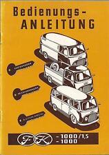 FORD - 1000 / 1,5  - 1000 Betriebsanleitung 1956 Bedienungsanleitung Handbuch BA