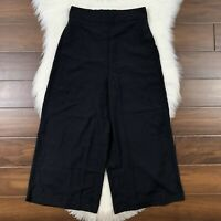 Madewell Women's Size Small Black Huston Pull On Crop Culotte Pants L0297