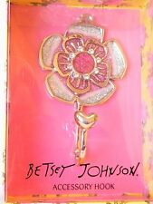 Betsey Johnson Glittery Flower Wall Hook Nwt $30