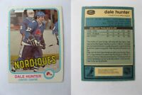 1981-82 OPC O-Pee-Chee #277 Hunter Dale  RC Rookie  nordiques