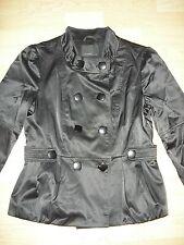 Jacket Jacke Blazer Satin Imitat Vero Moda Puffärmel schwarz Gr. L wie NEU