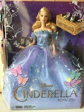 "Mattel 12"" Disney Cinderella Royal Ball Cinderella Doll Live Action Movie Figure"
