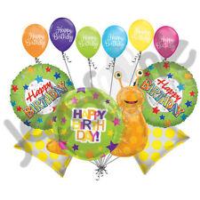 11 pc Happy Birthday Snail Balloon Bouquet Party Decoration Slug Bug Garden Boy