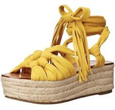 NIB Seiger Morrison Cosie Espadrille Wrap Sandals Yellow $325 - 8.5