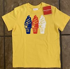 Hanna Andersson Nwt $24 Sz 120 6/7 Boys Yellow Ice Cream Cone T Shirt