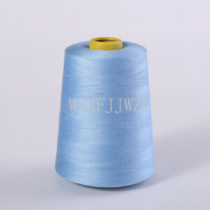 8000 Yards Light Blue Industrial Overlock Sewing Machine Polyester Thread Sewing