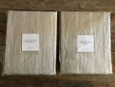 $129 Restoration Hardware Belgian Linen Sheer Tonal Stripe Drapery Panel 50x96""