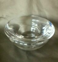 "Heavy Glass Votive Tea Light Candle Holder 4"" Across x 2"" Tall Kosta Boda"
