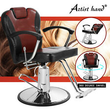 New Reclining Hydraulic Barber Chair Extra Wide Salon Beauty Shampoo Equipment
