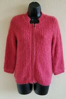 Cabi Salmon Pink Full Zip Lined Cardigan Sweater Women's Size Small Style 620