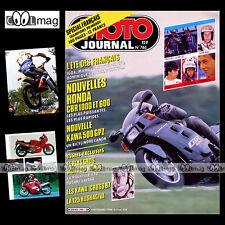 MOTO JOURNAL N°761 KAWASAKI  KX 125 & 250, GPZ 500, HONDA CBR 600 & 1000 F 1986