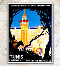 "Art Print Africa Tunis Vintage Travel Poster 12x18"" Rare Hot New A383"