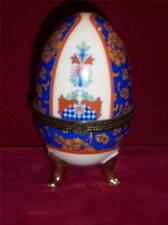 Porcelain Egg Box Ornate Blue and white Great Condition