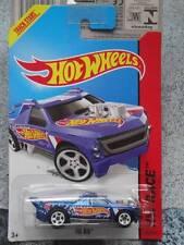 Hot Wheels 2014 #143/250 FIGURINE PLATE-FORME bleu HW COURSE Lot H Long Carte