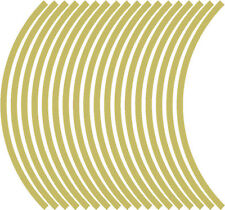 9mm wheel rim tape striping stripes stickers GOLD..(38 pieces/9 per wheel)