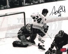Terry O'Reilly Boston Bruins Signed Action vs Canadiens Ken Dryden B&W 8x10