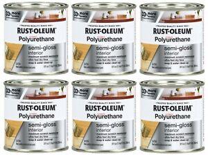 (Pack of 6) Rust-Oleum Ultimate Semi-Gloss Water-Based Polyurethane 8 fl oz
