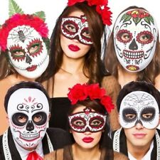 Halloween Mexican Zombie Sugar Skull Day of the Dead Fancy Dress Mask New