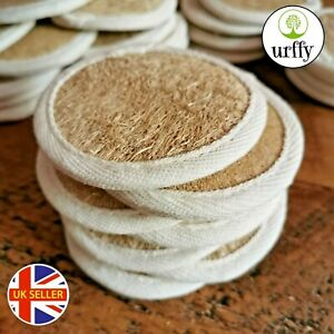 urffy - Exfoliating Loofah Face Pad Make Up Remover Pads Eco Organic Cleanser