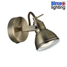 Searchlight 1541AB Focus Antique Brass Vintage 1 Lamp Switched Spot Light