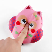 NEW 5.1''x5'' Jumbo Squishy Owl Buns Cream Scented Slow Rising Kids Toy Reliever