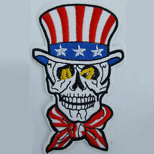 Embroidery Sew Iron On Patch Badge Star Stripe Skull Head Transfer Applique