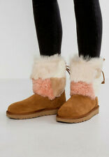 UGG Australia Boots Leather Fur Suede CLASSIC Women's Shoes UK Size 5 6