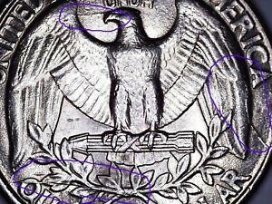 George Washington 1994 P Quarter Snorting Eagle - Die Crack - Extra Metal