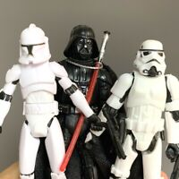 """3X Star Wars Stormtrooper/Darth Vader/Clone Trooper Action Figure 3.75"""" Doll Toy"""