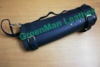 ORIGINAL LEATHER BLACK KNIFE CHEF ROLL/ PROFESSIONAL CHEF BAG