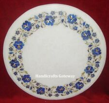 Marble Handicrafts Stone Inlay Table Top, Stone Art Marble Round Table