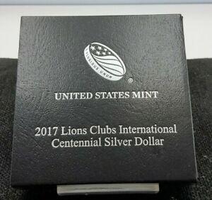 2017 Lions Clubs International Centennial Uncirculated Silver Dollar US Mint