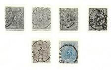 Belgium stamps 1866 Collection OBP 22-25 CANC VF HIGH VALUE!