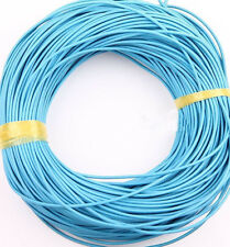 5M Lake Blue Real Leather Round Rope String Cords Necklace Jewelry DIY Handcraft