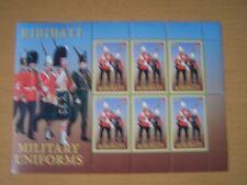 Kiribati,2007 Military Uniforms Sheet Of 6X 50C Values,U/M,Cat £6.60,Excellent.
