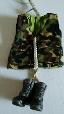 Camoflauge Camo Cloth Sewn Hunting Vest w/ Boots Christmas Ornament New