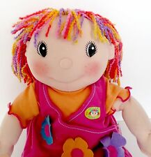 "Zapf Creation 17"" Cloth Stuffed Doll Sweetie Singer Maggie Raggies Video"