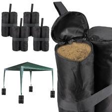 Pack de 4 Bolsas Contrapeso Para Carpas Plegables Camping Color Negro
