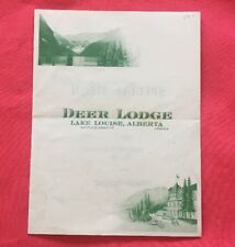 Bw368 Deer Lodge Lake Louise, Alberta, Canada Special Menu 1939
